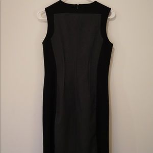 Calvin Klein black and grey sheath dress